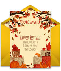 Free Online Thanksgiving Invitations Free Fall Themed Online Invitations Punchbowl