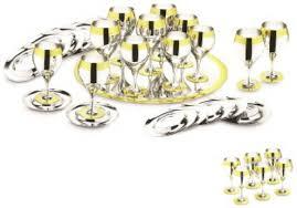 <b>Комплект</b> на <b>6</b> персон с ликерными рюмками Принц, стальной с ...