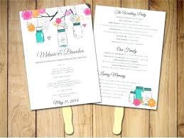 Heart Fan Wedding Program Template Format How To Make Fans Lavender