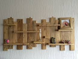 pallet wood wall shelf pallet wall mounted shelf unit rustic and handmade from rustic wood