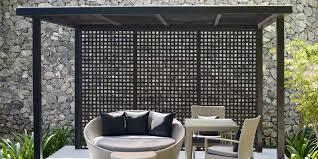 vinyl lattice fence panels. Pergola Made With Dimensions™ Black Privacy Square Plastic Lattice For A Contemporary Look. Vinyl Fence Panels