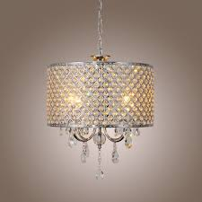 home design ideas stunning modern new drum crystal chandelier with 4 lights light for modern