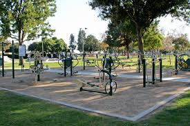 outdoor fitness equipment is now in place at garden grove park city of garden grove