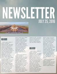 News Letter Sample Format Fresh Free Printable Newsletter Templates ...