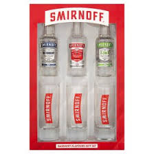 smirnoff flavours and gles gift set undefined