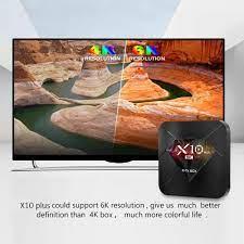 Tv Box R-Tv Box X10 Plus Android 9.0 Allwinner H6 Uhd 4k Media Player 6k  Chất Lượng Cao Kèm Phụ Kiện