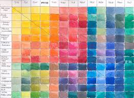 Watercolor Palette Chart Watercolor Mixing Chart At Getdrawings Com Free For