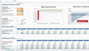 Cash Flow Model Excel Simple Saas Cash Flow Analysis
