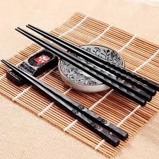 Pair Sushi Ebay Chopsticks Sticks 1 Chinese Set Alloy Gift Non-slip Chop Japanese
