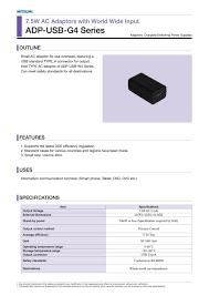 Adp Usb G4 Series Minebea Pdf Catalogue Technical