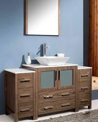 bathroom cabinets for vessel sinks. fresca-torino-54-walnut-brown-modern-bathroom-vanity- bathroom cabinets for vessel sinks