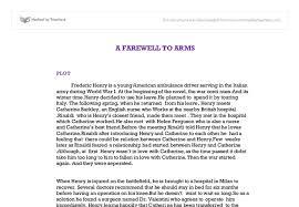 a farewell to arms essay a farewell to arms essay on war