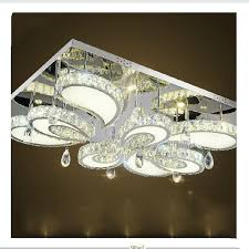 modern led flush mount rectangular crystal ceiling lights fixture for bedroom led wireless kitchen ceiling plafond