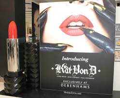 kat von d beauty launches it s first uk beauty counter exclusively at debenhams oxford street and i was one of the lucky few to help celebrate this