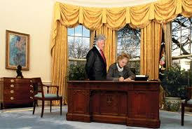 clinton oval office. Contemplating Clinton II. Oval Office