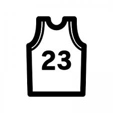 バスケットボールのユニフォームのシルエット 無料のaipng白黒