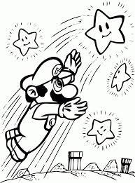 Kleurplaten Galaxy Ausmalbilder Mario Bros Kostenlos Malvorlagen Zum
