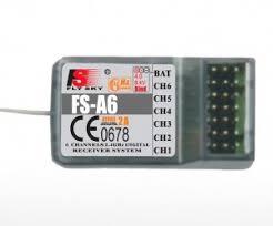 <b>6</b>-ти <b>канальный приемник FlySky</b> А6 2.4GHz (для i4, <b>i6</b>, i10) - <b>FS</b>-A6