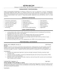 Experienced Multi Unit District Manager Resume