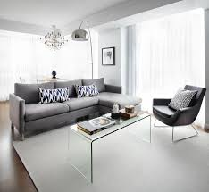 furniture for condo living. contemporary living room with gray furniture oversized floor lamp and glass coffee table lux for condo a