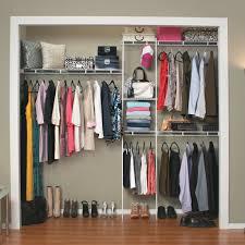 closet kit marvelous closetmaid 5 8 ft closet organizer hayneedle