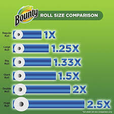 Bounty Roll Size Chart Bounty Paper Towels 24 Big Rolls 8 Packs Of 3