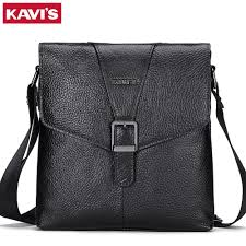 kavis mens genuine leather handbag 2018 new shoulder bag brands designer cow leather bag vintage casual fashion style flap bags clutch purse cross