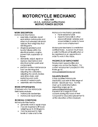 Motorcycle Mechanic Job Description Motorcycle Mechanic Cover