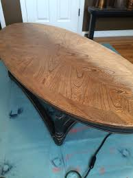 if you re a sanding expert you see my mistake right away yep i sanded from one end of the table to the other all in the same direction