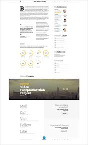 Html Resume Template Html5 Biopic Responsive Free Download Php Cvx
