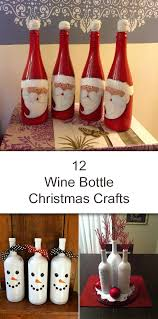 How To Use Wine Bottles For Decoration Amazing Wine Bottle Christmas Crafts 29