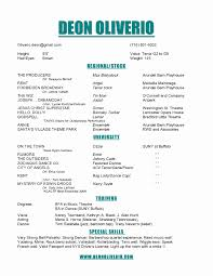Theatre Producer Sample Resume Resume Builder Template Free Inspirational Musical Theatre Resume 17