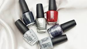 manicure monday opi presents shades of grey collection