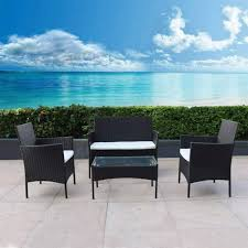 dining table ottomans cushions patio