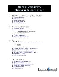 Brandis Business Plan Outline Capital West Advisors