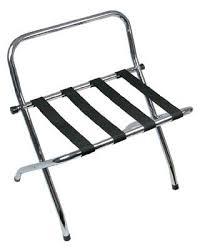 hotel luggage rack folding with rear bar chrome