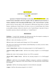 Limited Partnership Agreement Template Florida Limted Partnership Agreement 45 Pg Private Placement Memorandum