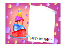 free happy birthday template happy birthday card template happy birthday card design with