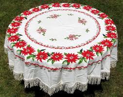 cotton measures about 60 inches diameter plus 3 fringe excellent condition