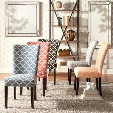 parsons dining chairs inspire q pattern fabric chair set of 2 faux leather