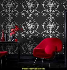 romantic red and black bedrooms. De Lacey Black Wallpaper Moulin Rouge Theme Bedrooms Romantic Themed Decorating Ideas Red And A