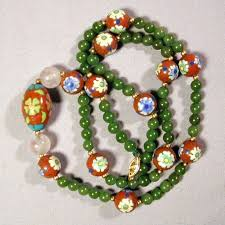 Image result for cloisonne beads