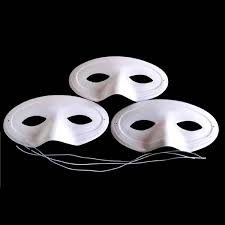 Plastic Masks To Decorate Masquerade Style Masks to Paint Decorate 60pcs Amazing Arts and 56