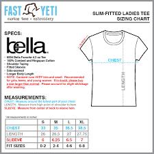 Bella Tee Size Chart Fytees Com Size Charts