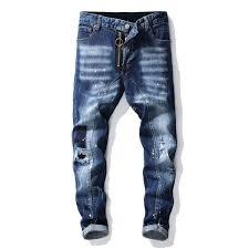 2019 New Mens Robin Jeans Men Designer Jeans Distressed Motorcycle Biker Jeans Rock Revival Skinny Ripped Hole Straight Mens Denim Pants 29 38 From