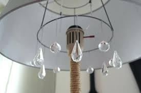 chandelier floor lamp diy chandelier floor lamp makeover designs featured on diy crystal chandelier floor lamp