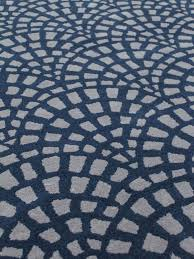 cobblestone navy blue and grey handtufted wool rug detail image