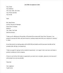Job Offer Letter Template Conditional Word Of Employment