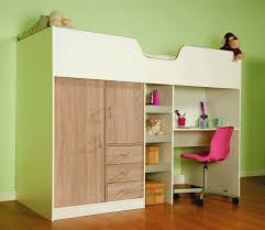 high sleeper cabin bed with colour options ideal kids safe bed with wardrobe and desk bourne