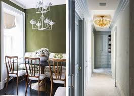 Green Dining Room and Blue Dressing Room, Anna Burke Interiors, Photography  by Lesley Unruh